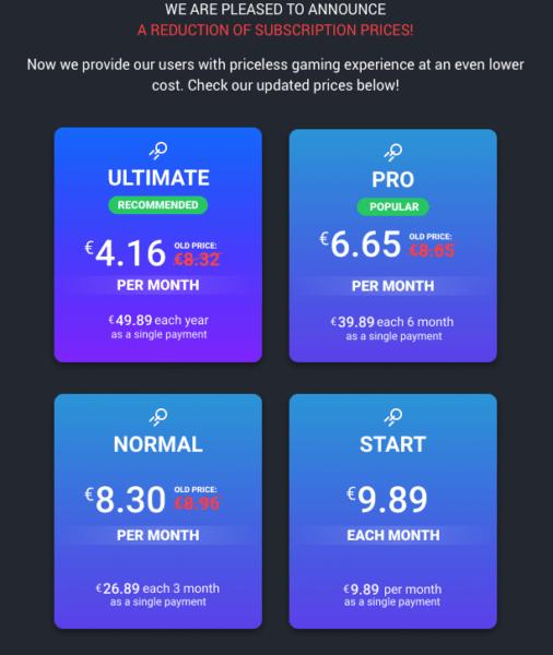 Сервис Boosteroid снизил цены