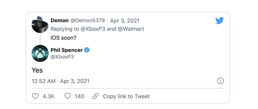 Фил Спенсер подтвердил, что xCloud появится на iOS